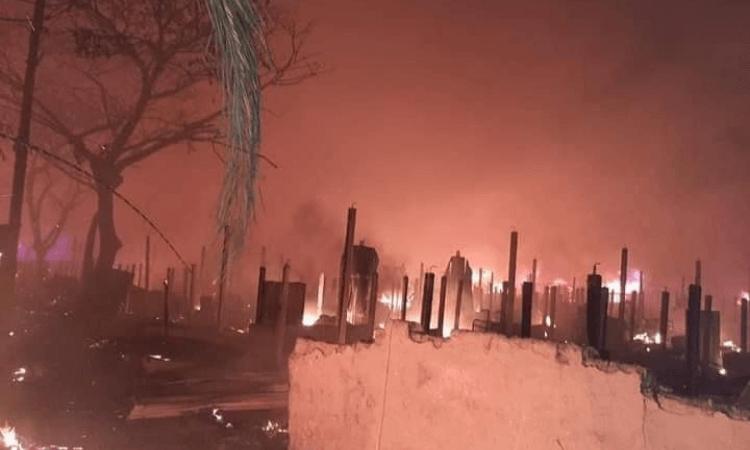 A causa do incêndio no acampamento de refugiados em Bangladesh ainda é desconhecida, mas alguns moradores acreditam que o fogo começou a partir de um fogão a gás